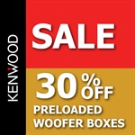 Web Banners for 30% Off Preloaded Woofer Boxes Sale