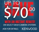 KENWOOD Consumer Dash Cam Promotion Assets - Up To $70 Through April 30, 2021